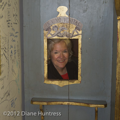 woman in confessional